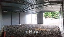 Secure Metal Garage for Car, Motorbike Shed, Garden Equipment 18x18ft