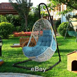Solid Metal C Hammock Frame Stand Garden Patio Swing Chair Seat Frame Adjustable