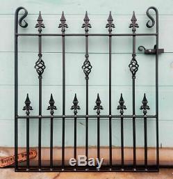 Spear Top Single Garden Gates Wrought Iron Metal Steel Gate 3ft Opening
