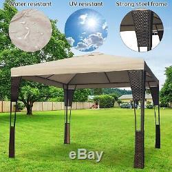 St Tropez Metal Gazebo 3x3m Marquee Canopy Shelter Shade Garden/Patio WAS £299