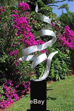 Statements2000 Silver Modern Metal Garden Sculpture Yard Art Jon Allen Whisper