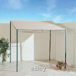 SunTime 2.5 Metal Outdoor Wall Gazebo Marquee Garden Patio BBQ Door Porch Shelte