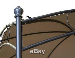 Victorian Metal Gazebo 3x3m Marquee Canopy Shelter for Sun Shade in Garden/Patio