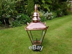 Victorian Style Traditional post lamp Top post lantern garden bright copper