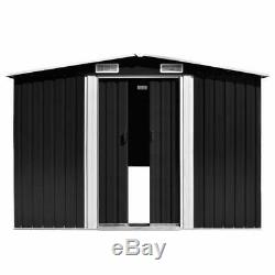 VidaXL Garden Shed 257x497x178cm Metal Anthracite Tool Storage House Cabin