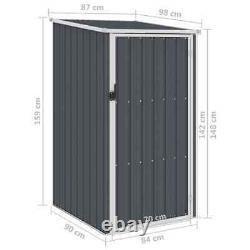 VidaXL Garden Shed Anthracite Galvanised Steel Outdoor Tool Storage House