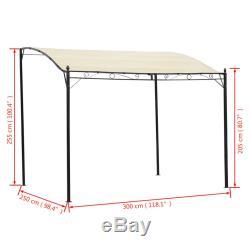 VidaXL Gazebo Fabric Cream White Outdoor Garden Canopy Shelter Tent Carport