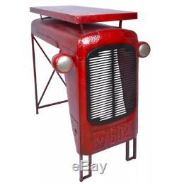 Vintage Metal Garden Table Tractor Patio Rustic Decorative Sturdy Furniture