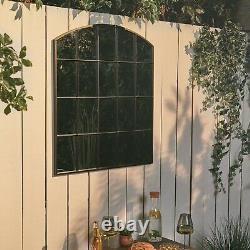 VonHaus Garden Mirror Durable Weather-Resistant Arch Mirror