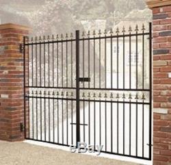 WROUGHT IRON METAL GARDEN GATE Castle Tall 2ft6-3ft4