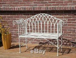 WestWood 2 Seater Garden Bench Chair Metal Ornate Vintage Patio Outdoor MGB03