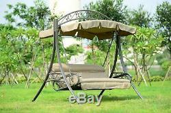 WestWood Garden Metal Swing Hammock 3 Seater Chair Bench Patio Outdoor SC03