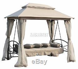 WestWood SB04 Garden Swing Hammock 3-4 Seater Chair Bench Bed Gazebo Outdoor