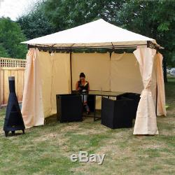 Wido HEAVY DUTY OUTDOOR GARDEN GAZEBO PARTY TENT WEDDING MARQUEE AWNING CREAM