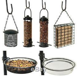 Wild Bird Feeding Station With Hanging Feeders Garden Water Bath Table Seed Tray
