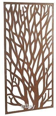 Wonderful Rustic Steel Garden Tree Screen 180cm (6ft) tall ideal screen fence