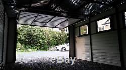 Wood Effect Metal Garage or Shed for Car, Motorbike, Garden Equipment 12x20ft