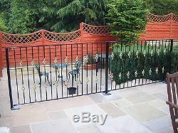 Wrought iron railings metal garden fence