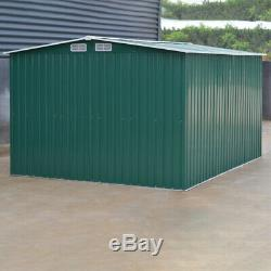 XLLarge 10x8FT Metal Garden Shed Outdoor Tool Bike Unit Storage House Cargo Pent