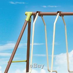 XXL 5 Children Metal Frame Swing Glider Set Outdoor Garden Play Activity Centre