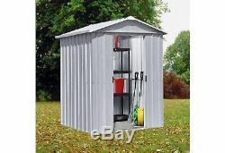Yardmaster Apex Metal Garden Shed Lockable Doors- 6 x 4ft