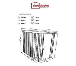Yardmaster The Original NO. 1 Metal Garden Shed Pent Store All Size 3'11x 5'2
