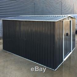 10x 8 Pi Apex Garden Robuste Maison Cabanon À L'extérieur De Rangement Métallique Equipements