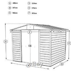 10x12 Abris Métalliques De Jardin Yardmaster Shed Bois De Stockage En Acier Apex 10 Pi X 12 Pi