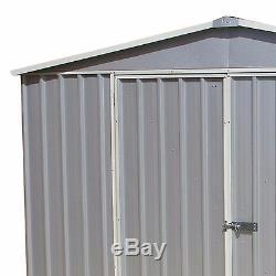 10x12 Absco Metal Storage Garden Hangar Gris Titane Double Porte Apex 10ft 12ft