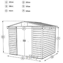 10x6 Abris Métalliques Pour Jardins Yardmaster Shed Wood