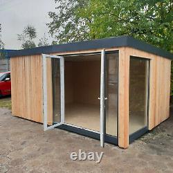 15m2 Self Build Isolated Garden Office Bricolage Kit, Garden Room, Studio Bureau