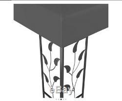 2-tier Patio Gazebo Avec Cadre En Acier Canopy 3m X 3m Abri De Jardin Anthracite