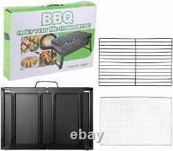 2021 Portable Bbq Barbecue Steel Charcoal Grill Outdoor Garden Party Fold Stove
