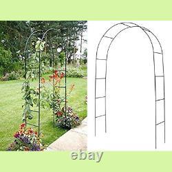 2m Garden Arch Trellis Arched Metal Tubular Frame Montage De La Plante Archway Arbour