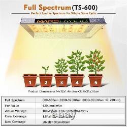 2pcs Mars Hydro Ts 600w Led Grow Full Spectrum Indoor Plant Lamp Veg Flower Ir