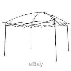 3,25 X 3,25 M Jardin Gazebo Métal Party Tente Canopy Sun Shelter Avec Net Rideau