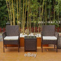 3/4 Pièces En Rotin Meubles De Jardin Conservatory Sofa Table Chaise Portier Nouveau