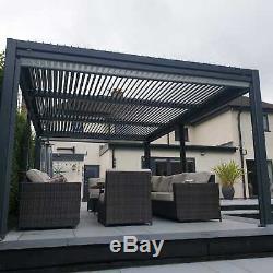 3.6 X 5.4 Ventilé Toit Gazebo Solide, Bain À Remous Canopy, Gazebo Permanent Jardin