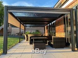 3.6 X 7.2m Ventilé Toit Gazebo Solide, Bain À Remous Canopy, Jardin Permanent Pare-soleil