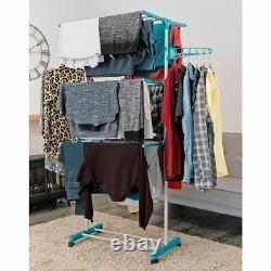 3 Niveaux Grand Luxe Linge De Blanchisserie Vêtements Pliable De Séchage Airer Rack Intérieur Extérieur Royaume-uni