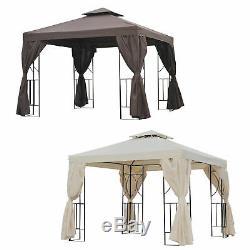 3 X 3 M Abri Du Soleil De Pavillon De Tente De Patio De Chapiteau De Jardin De Gazebo En Métal