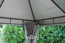 3m X 3m Gazebo Marquee Heavy Duty Tente De Jardin Imperméable Avec Des Rideaux Latéraux Complets