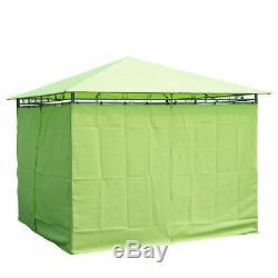 3m X 3m Métal Gazebo Chapiteau Extérieur Garden Party Tente Pavillon Canopy Shelter