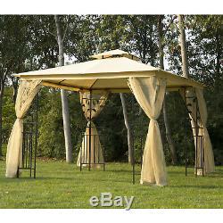 3m X 3m Patio Jardin Gazebo Métal Chapiteau Tente Canopy Pavillon Shelter