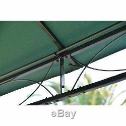 3m X 3m Tente De Pavillon En Tonnelle De Jardin En Gazebo De Jardin En Métal Avec Pavillon Et Flancs