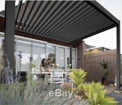 3m X 4m Ventilé Toit Gazebo Solide, Bain À Remous Canopy, Gazebo Permanent Solide Jardin