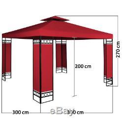 3x3 Gazebo Chapiteau Fête Mariage Tente Jardin Lorca Réception Terrasse Auvent Auvent