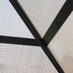 3x3m Extérieur Gazebo Patio Jardin Canopy Tente Avec Le Conseil Et Pc Netting Toit Noir