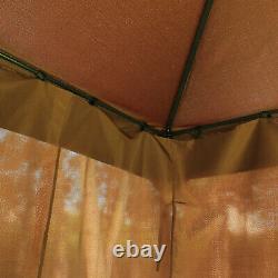 3x4m Jardin En Métal Gazebo Marquee Patio Party Tente Canopy Shelter Avec 2 Étages Toit