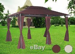 3x4m Pavillon En Métal Gazebo Jardin Auvent Auvent Abri Tente De Parti Ombre De Soleil